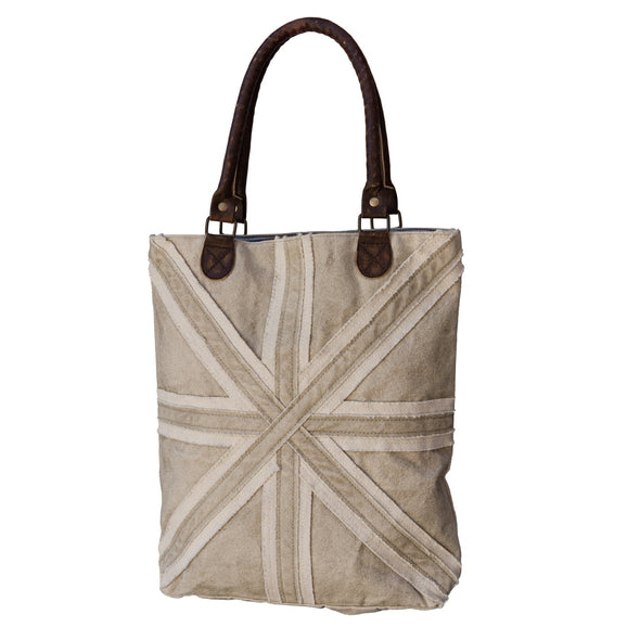 Union Jack  Beige Recycled Shopping Bag