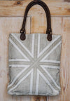 Union Jack Recycled Shopping Bag lifestyle on wooden background
