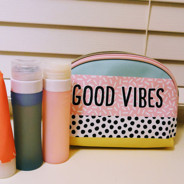 Good Vibes Gym Shower Make Up Pouch