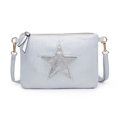 Sparkling Sequin Star Moonlight Handbag Aqua