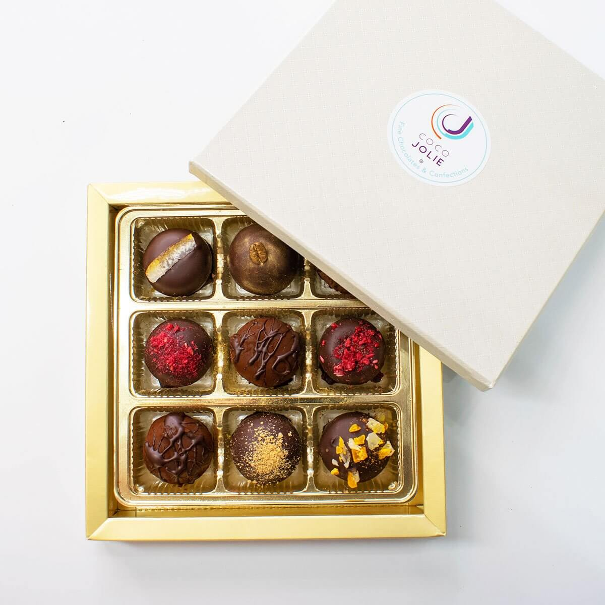 9 Piece Chocolate Truffle Assortment