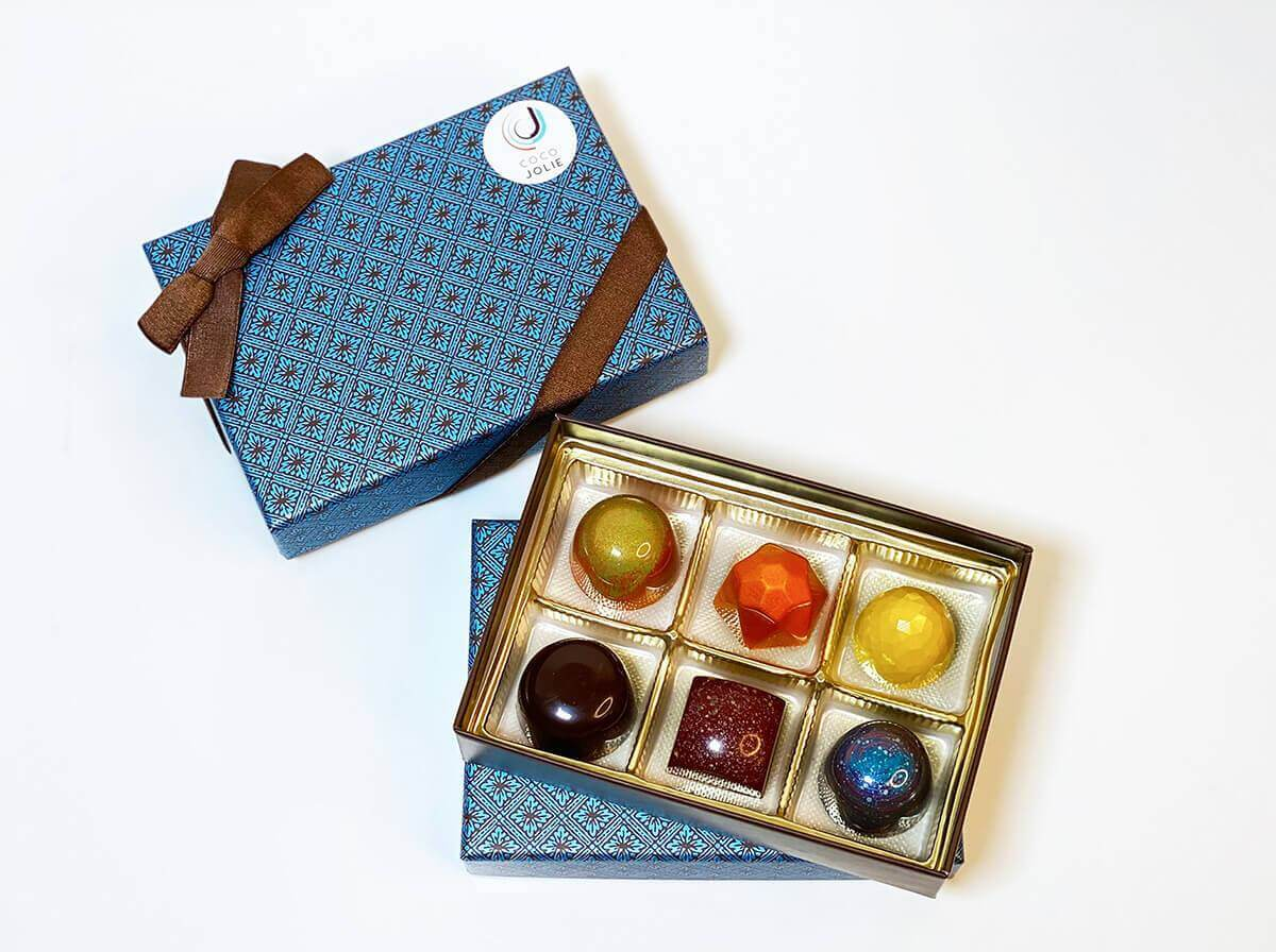 Six Piece Father's Day Chocolate Gift Box - Coco Jolie
