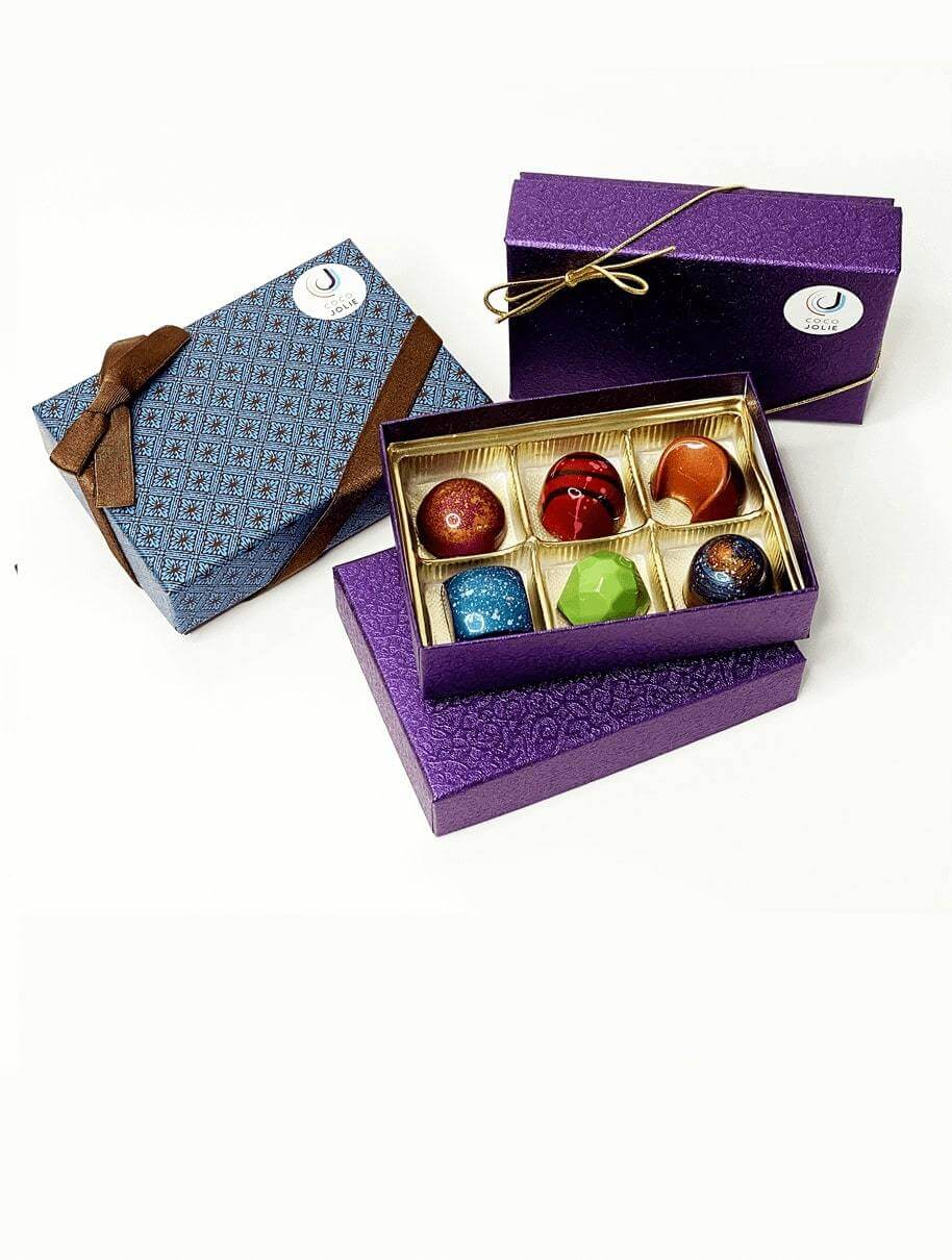 Six Piece Gourmet Chocolate Gift Box - Coco Jolie