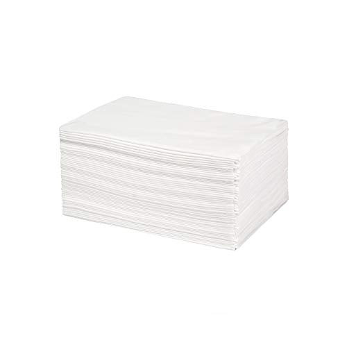 Eco Large DAVELEN Disposable Towels 50 Pack, 30 by 15 inches each. White Towels