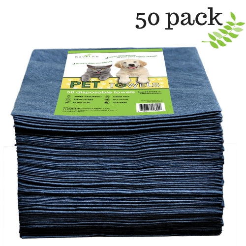 Pet Towels | Dog Towels | Disposable | Large 31.5 by 15.7 | 50 Count