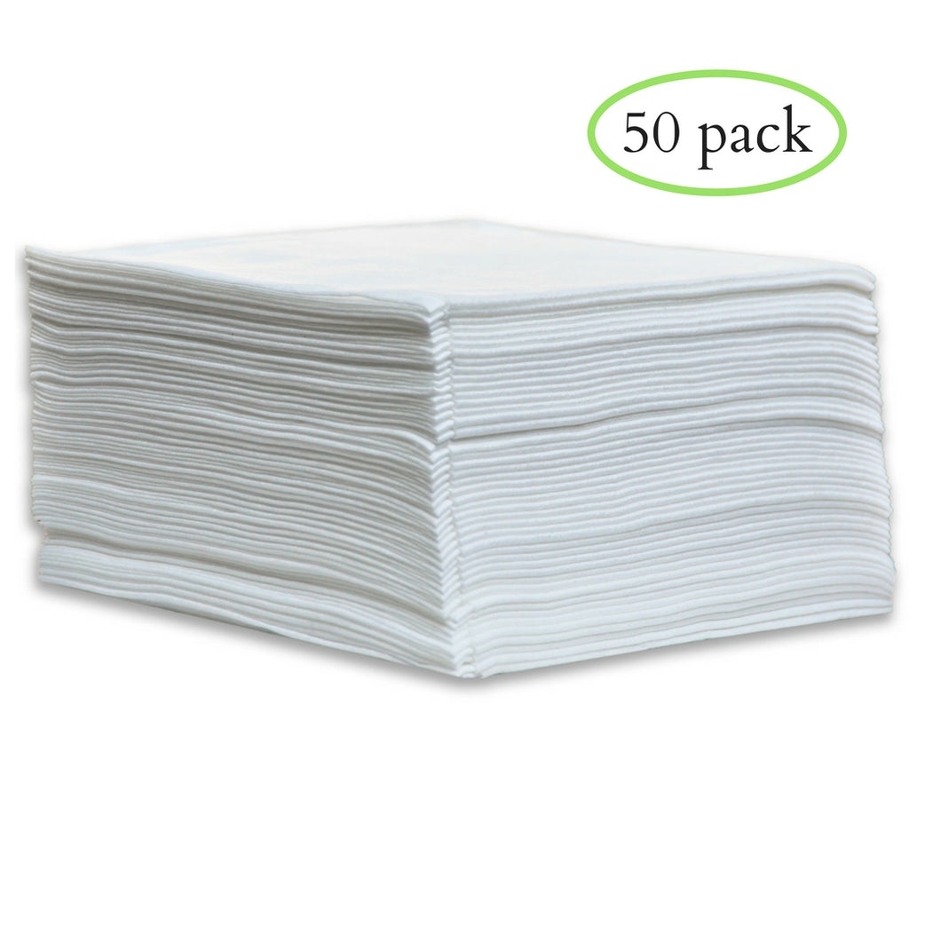Large Disposable Towels (White)