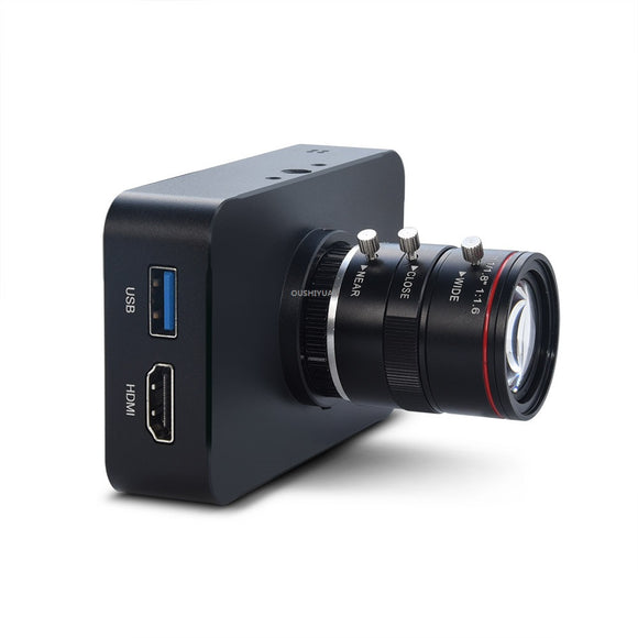 OSYBZ 12MP HDMI Camera 1080P USB HD Streaming Webcam Recording 4K@30FPS Industry C/CS-Mount Camera with 6-12 Lens