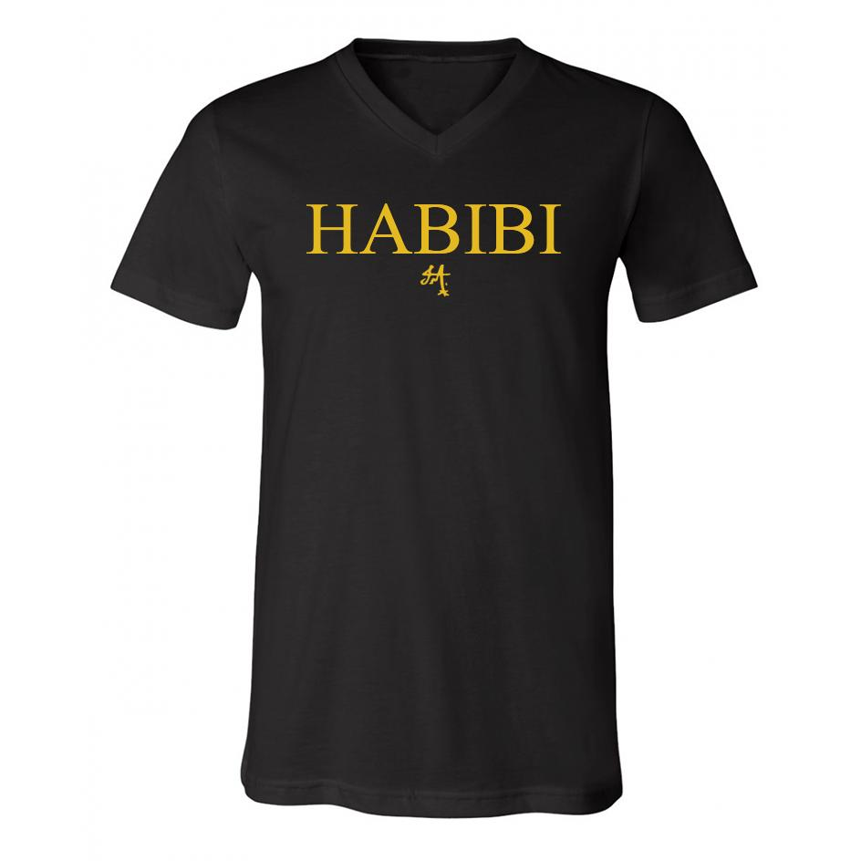 Classic Black and Gold Habibi V-Neck