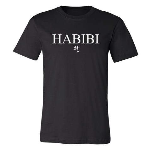 Classic Black and White Habibi Crewneck Tee