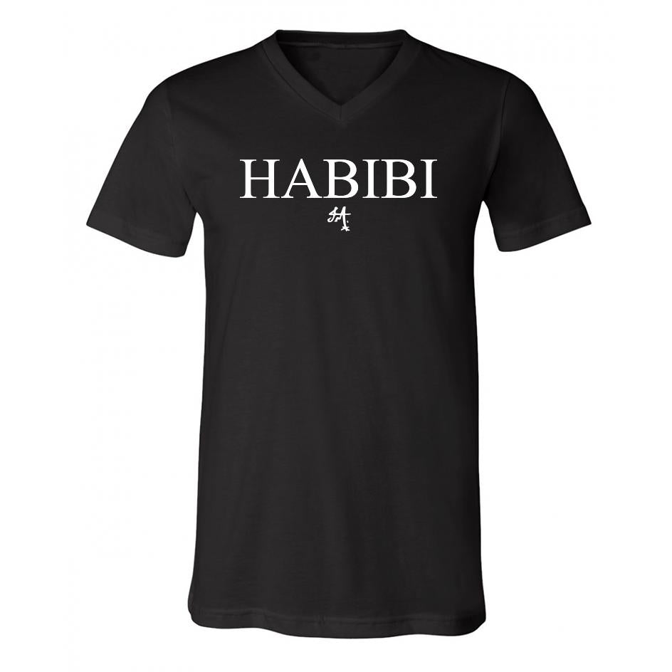Classic Black and White Habibi V-Neck
