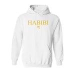 Classic White and Gold Habibi Hoodie
