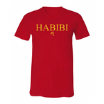 Classic Red and Gold Habibi V-Neck