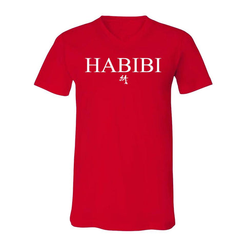 Classic Red and White Habibi V-Neck