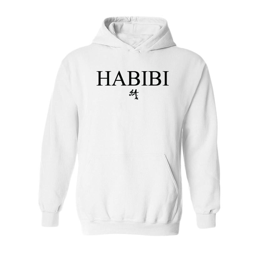 Classic White and Black Habibi Hoodie