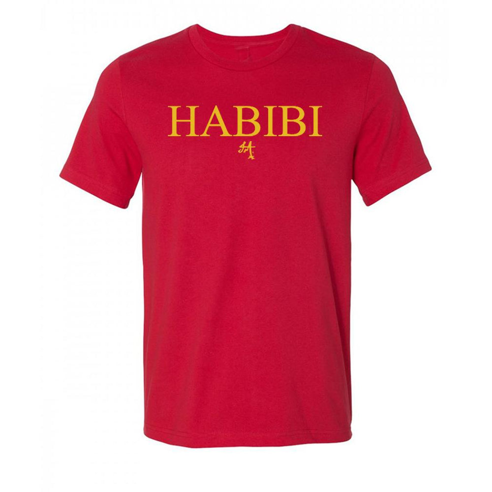 Classic Red and Gold Habibi Crewneck Tee