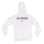 Classic White Habibi Hoodie with Crystals