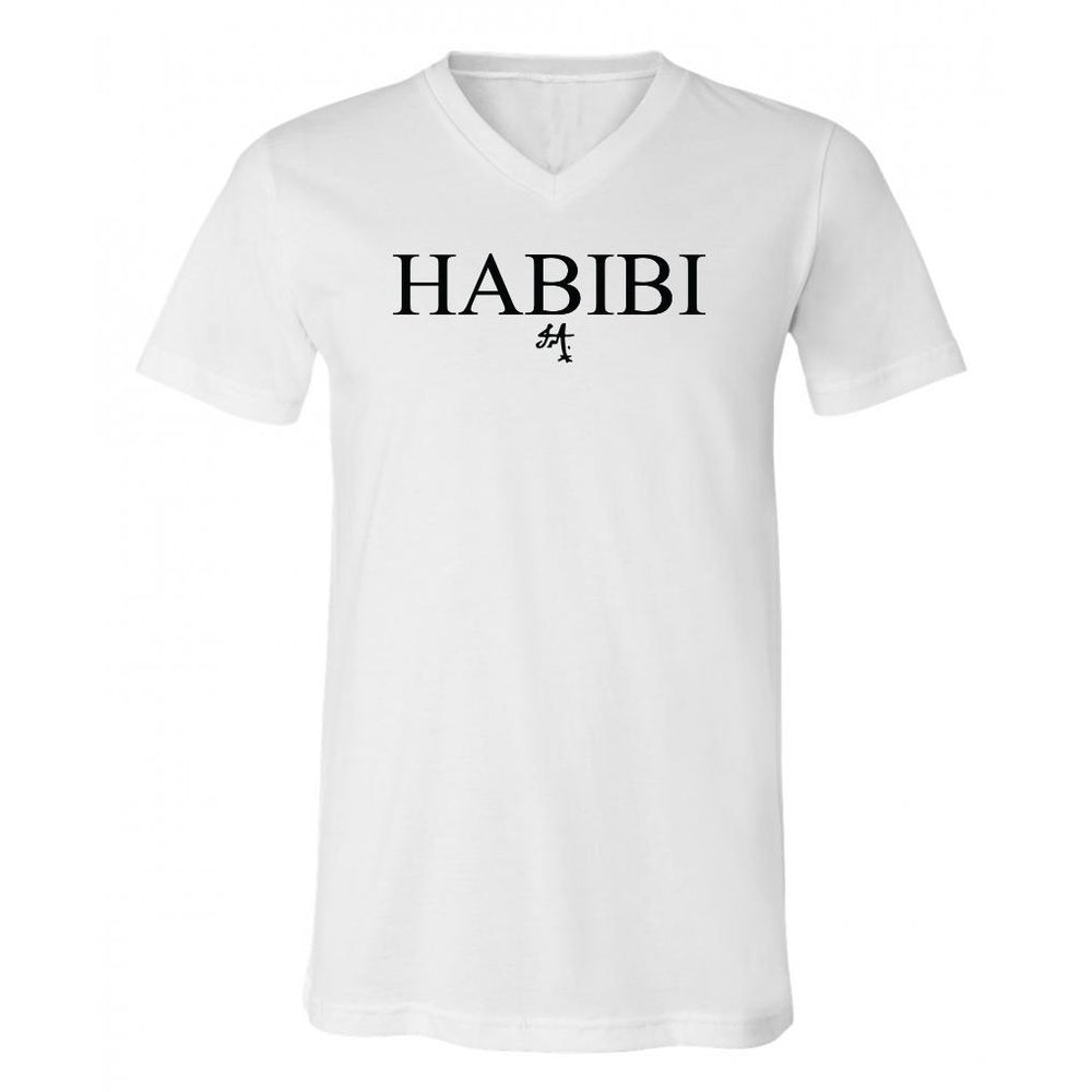Classic White and Black Habibi V-Neck