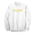 Classic White and Gold Habibi Crewneck