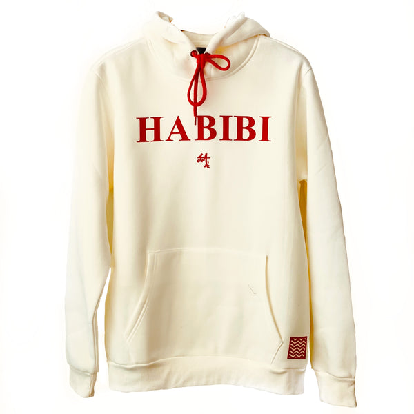 Habibi Irish Cozy Cream Red Velvet Hoodie