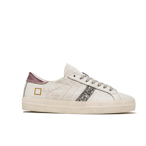 White, pink and glitter trainers from D.A.T.E.