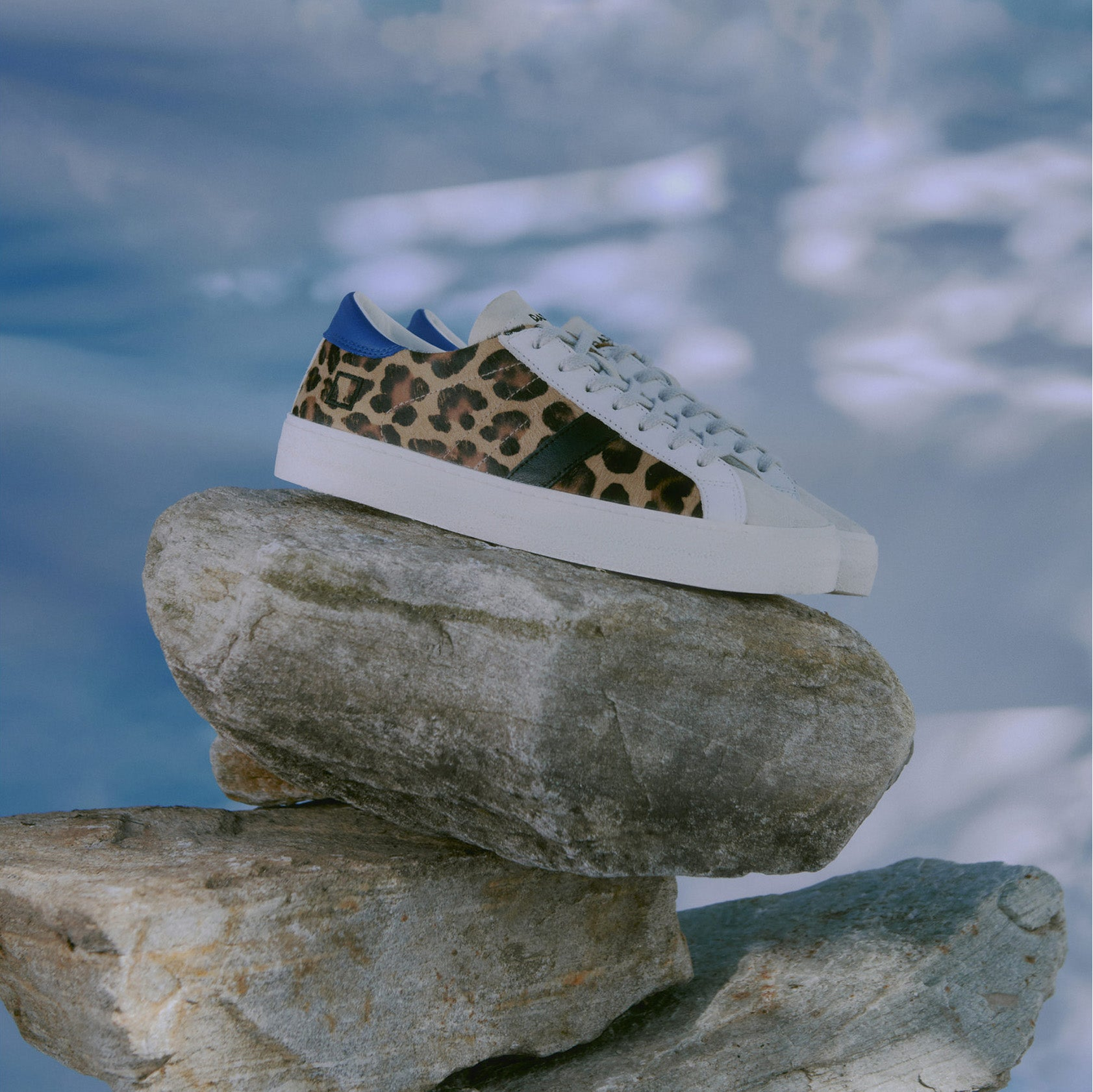 D.A.T.E. Hill Low Pony Leopard Trainers