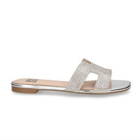 silver sliders leather UK