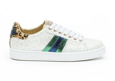 white glitter trainers