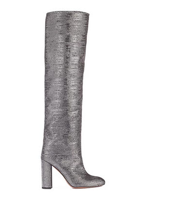 metallic over the knee boots UK