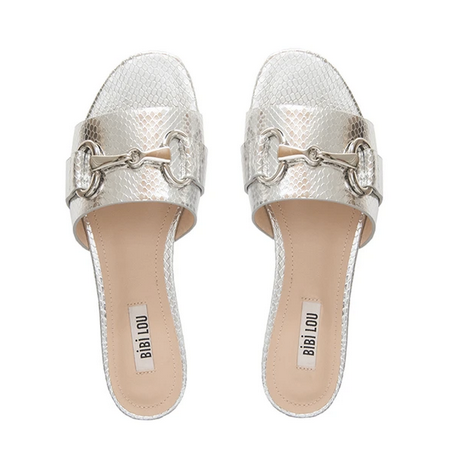 bibilou silver sandals UK stockist