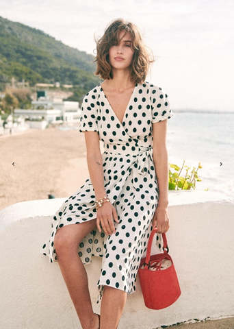 Sezane polka dot dress