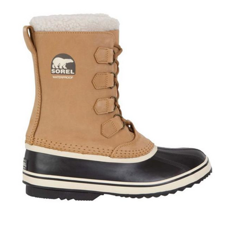 The sorel 1964 pac 2 in tan and navy winter boots