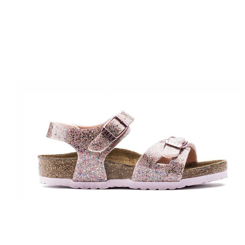 Birkenstock Rio Kids BF Cosmic Sparkle Rose Multi Birko-Flo Sandals