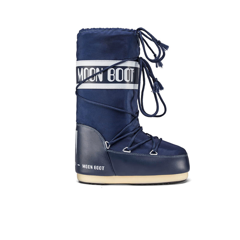 <transcy>MOON BOOT Classic Nylon Navy Blue Bottes Femme</transcy>