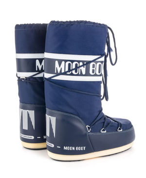 MOON BOOT Classic Nylon Navy Blue Women Boots