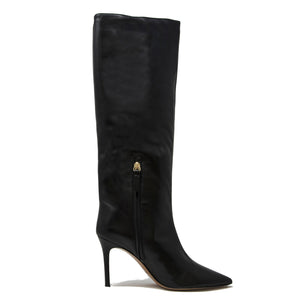 Pura Lopez Nappa Black Leather Tall Boots