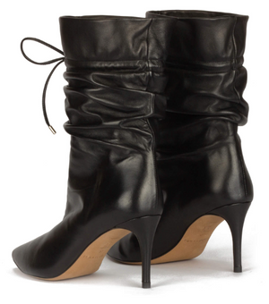 Pura Lopez Parker Black Leather Boots
