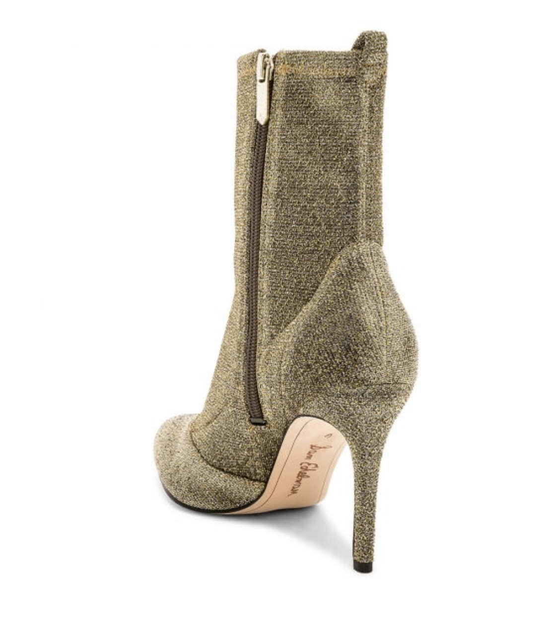 e059c7c63 Sam Edelman Olson Gold Metallic-knit Sock Boots