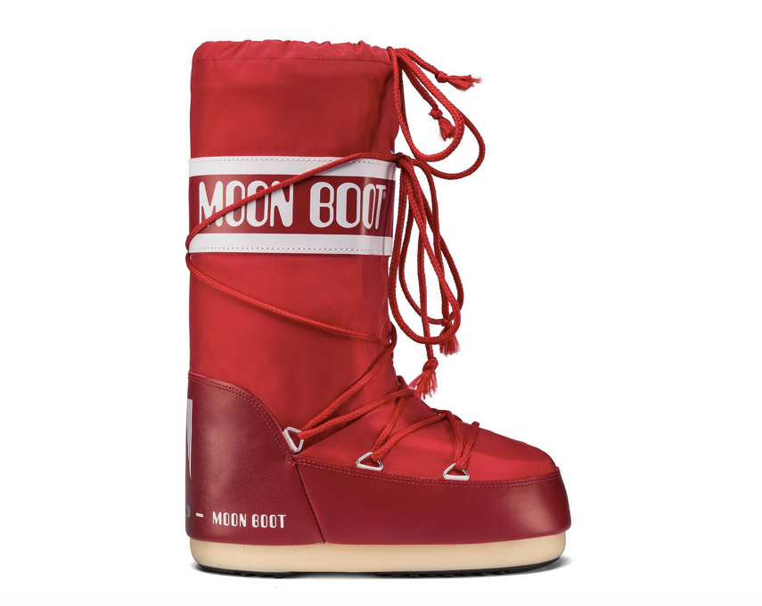 <transcy>MOON BOOT Classic Nylon Red Bottes Femme</transcy>