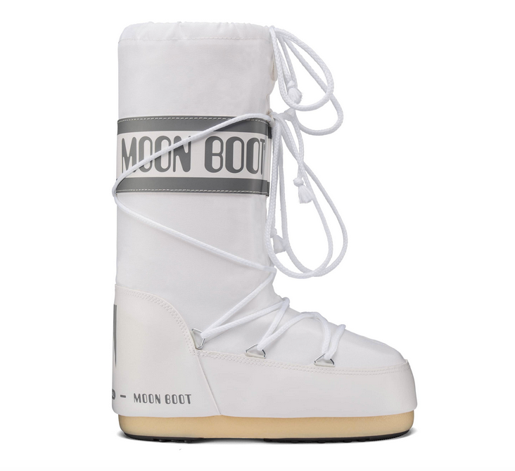 MOON BOOT Classic Nylon White Kids Boots