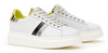 Serafini J.Connors White Black and Yellow Leather Trainers