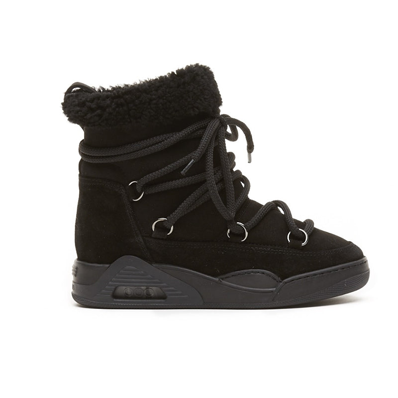 Serafini Black Suede Moon Boots