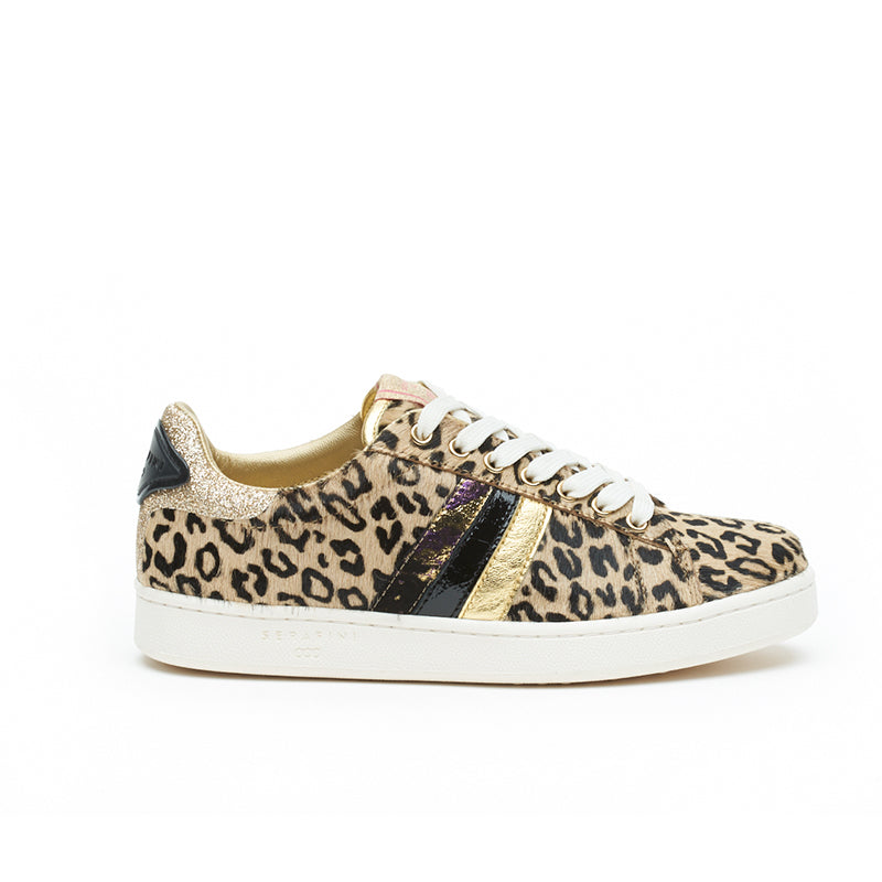 My Fashion Tribu x Serafini J.Connors Leopard Print Trainers