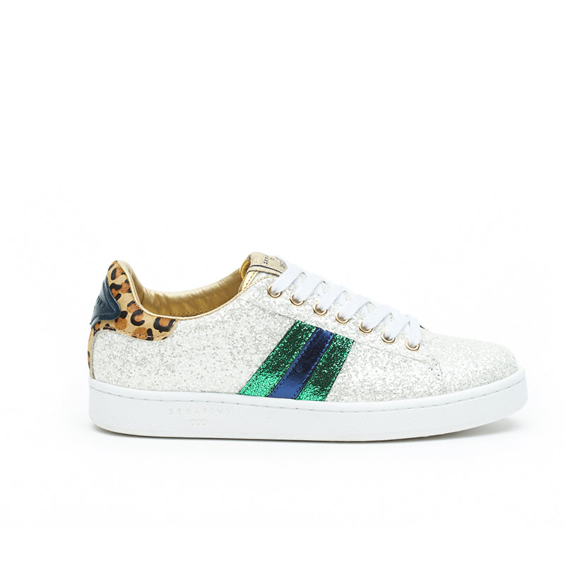 My Fashion Tribu x Serafini J.Connors White Glitter Trainers