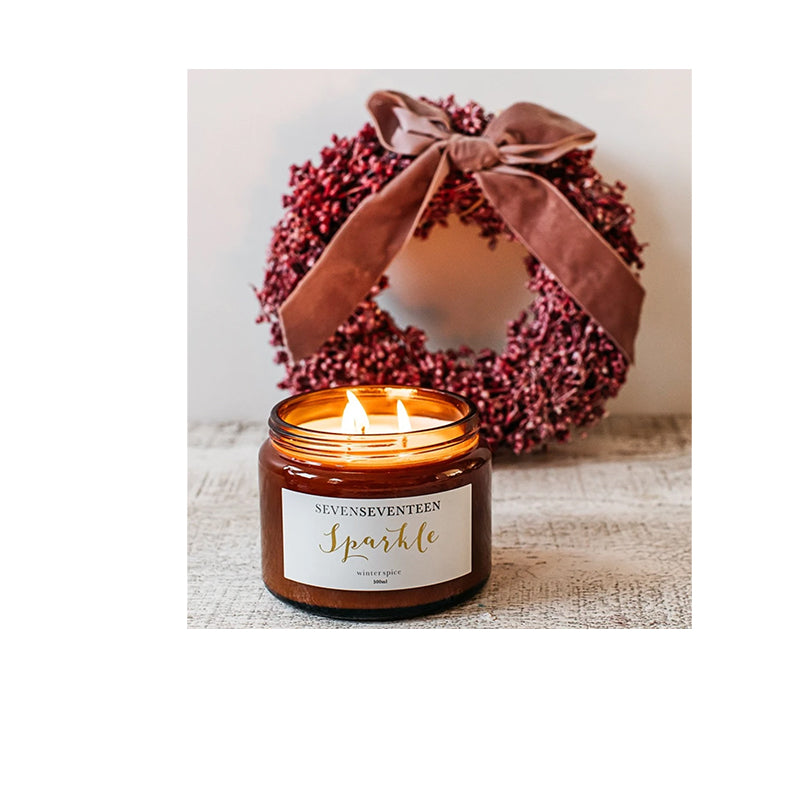 Seven Seventeen Sparkle Winter Spice Candle