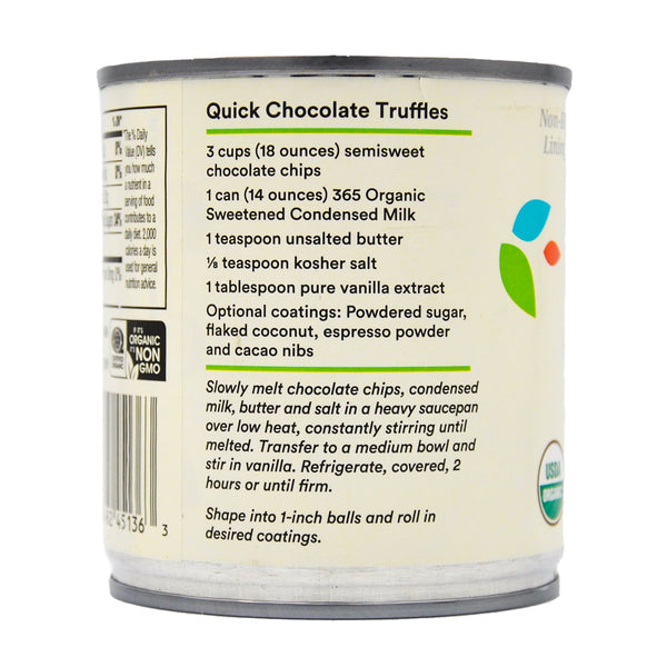 365 Organic Condensed Milk - Sweetened (397g) - Organics.ph