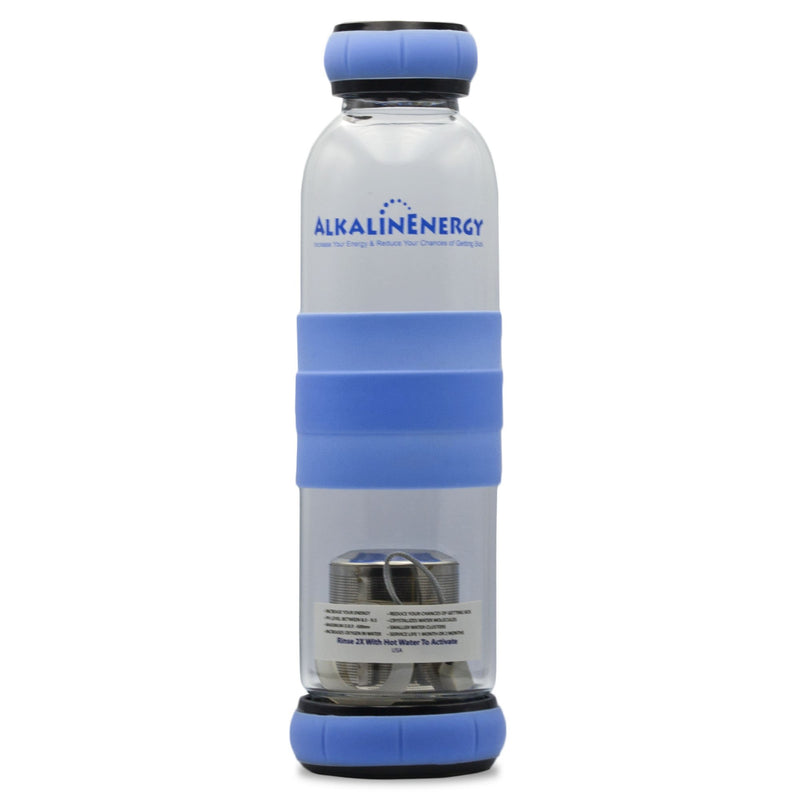 Alkaline Energy Alkaline Water Bottle w/ Beads Blue - Organics.ph
