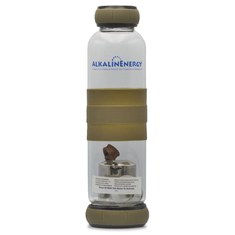 Alkaline Energy Alkaline Water Bottle w/ Beads Brown - Organics.ph