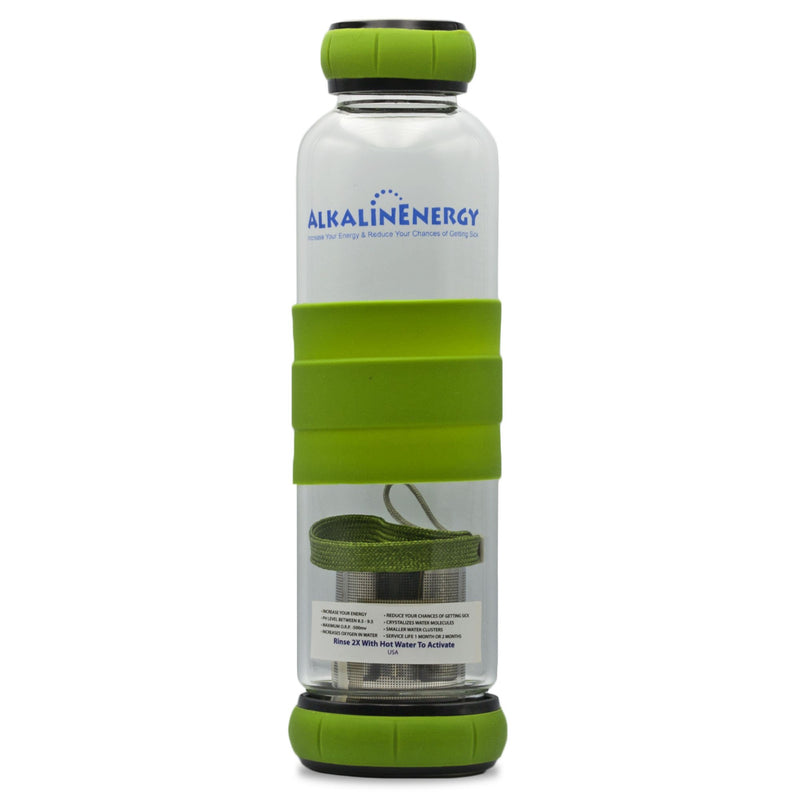 Alkaline Energy Alkaline Water Bottle w/ Beads Green - Organics.ph