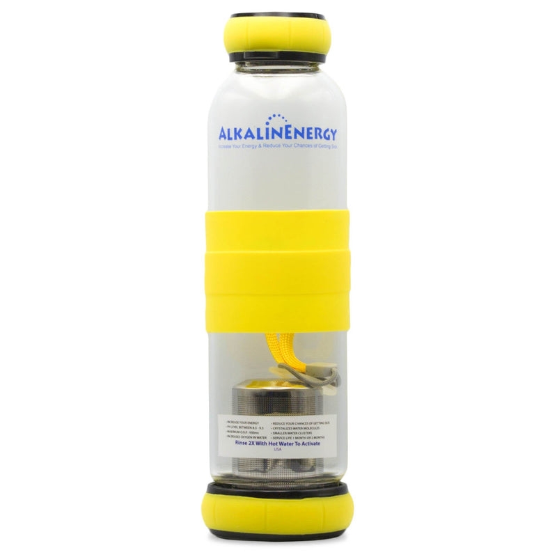 Alkaline Energy Alkaline Water Bottle w/ Beads Yellow - Organics.ph
