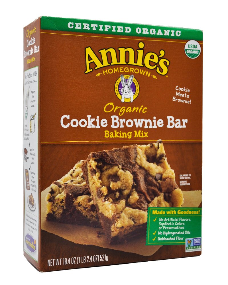 Annie's Organic Baking Mix - Cookie Brownie Bar (521g) - Organics.ph